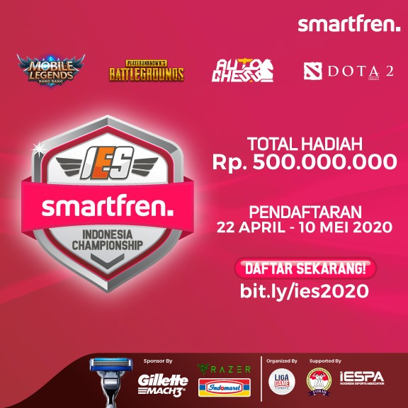 Smartfren IES Indonesia Championship Kejuaraan ESPORTS Antar Provinsi yang Akan Digelar Secara Online
