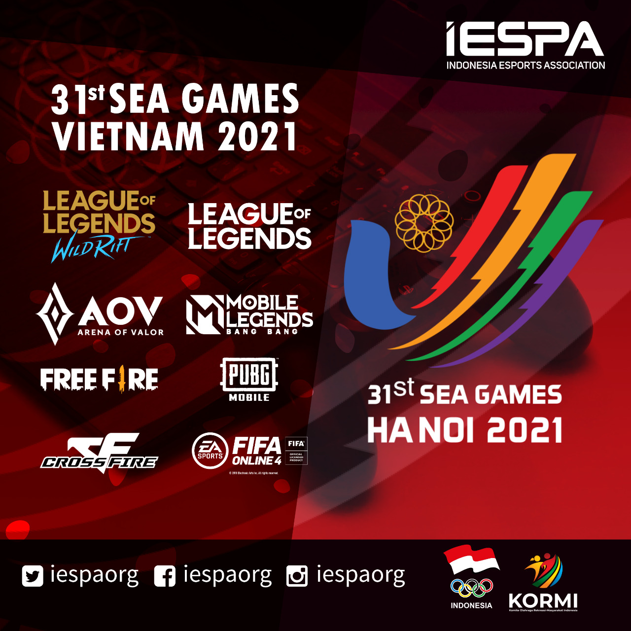 Perlombaan Esports Pada Ajang 31st SEA GAMES VIETNAM 2021