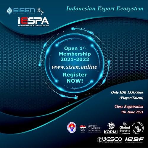 Open Membership Smart Integration System Esports Nasional (SISEN)